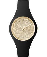 Ice-Watch 001348 Ladies ice-glitter zwarte siliconen band kleine horloge