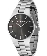 Police 14640MS-61M Mens pracht zilveren stalen armband horloge