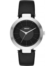 DKNY NY2465 Ladies Stanhope 2,0 zwart lederen band horloge