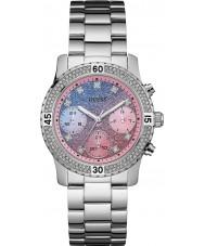 Guess W0774L1 Ladies confetti zilveren stalen armband horloge