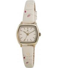 Radley RY2162 Ladies crème blad gestikte lederen band horloge
