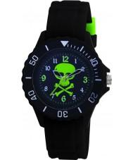 Tikkers TK0031 Kids zwart rubber horloge
