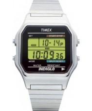 Timex T78587 Heren zilver gemarmerd digitale chronograaf horloge