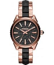 Diesel DZ5473 Ladies nuki rose goud zwarte horloge