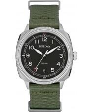 Bulova 96B229 Mens militaire uhf zwart groen horloge