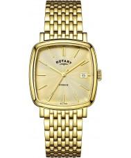 Rotary GB05308-03 Mens uurwerken Windsor champagne goud vergulde horloge