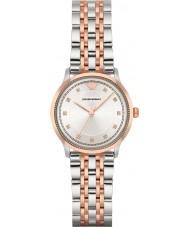 Emporio Armani AR1962 Dames klassieke two tone stalen armband horloge