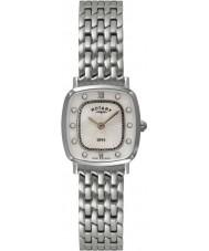 Rotary LB08100-41 Ladies ultra slanke stalen horloge