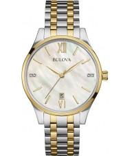 Bulova 98S149 Ladies diamant two tone stalen armband horloge