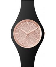 Ice-Watch 001346 Ladies ice-glitter zwarte siliconen band kleine horloge
