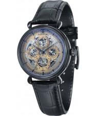 Thomas Earnshaw ES-8043-06 Mens grand kalender zwart lederen band horloge