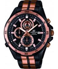 Casio EFR-547BKG-1AVUEF Mens gebouw zwarte roos gouden stalen armband horloge