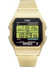 Timex T78677 Mens goud klassieke digitale chronograafhorloge