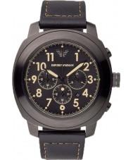Emporio Armani AR6061 Mens Black chronograaf sporthorloge