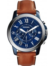 Fossil FS5151 Mens verlenen bruin chronograaf