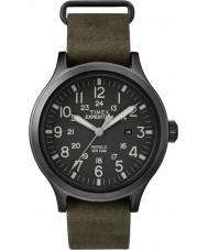 Timex TW4B06700 Mens scout groen lederen band horloge