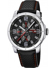 Festina F16585-8 Mens multifunctioneel lederen band horloge