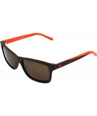 Polo Ralph Lauren Ph4095 57 ongedwongen living matte bruine 552.673 zonnebril