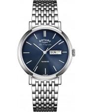 Rotary GB90153-05 Mens les originales Windsor blauwe stalen horloge