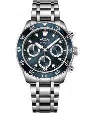 Rotary GB90170-05 Mens uurwerken legacy zilveren chronograafhorloge