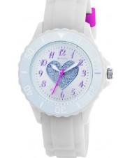 Tikkers TK0034 Kids witte rubberen horloge