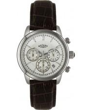 Rotary GS02876-06 Mens uurwerken monaco ivoor bruin chronograaf sporthorloge