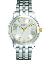 Bulova 98A125 Mens zilveren horloge