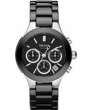 DKNY NY4914 Ladies Chambers zwarte keramische armband horloge
