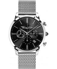 Thomas Sabo WA0245-201-203-42mm Mens eeuwige zilver staal chronograafhorloge