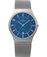 Skagen 233XLTTN Mens klassik titanium silver mesh horloge