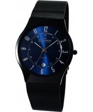 Skagen T233XLTMN Mens Aktiv blauw en zwart titanium watch