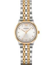 Emporio Armani AR1963 Dames klassieke two tone stalen armband horloge