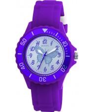 Tikkers TK0035 Kids paars rubber horloge