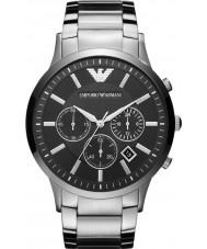Emporio Armani AR2460 Heren Classic chronograaf zwarte zilveren horloge