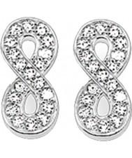 Thomas Sabo H1877-051-14 Ladies zirconia pave infinity zilveren oorknopjes
