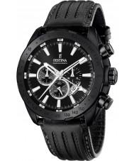 Festina F16901-1 Mens prestige zwart lederen chronograaf