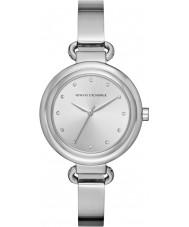 Armani Exchange AX4239 Dames jurk zilveren stalen armband horloge