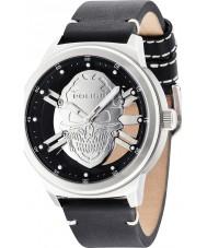 Police 14685JS-04 Mens roofdier zwart lederen band horloge