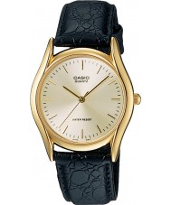 Casio MTP-1154PQ-7AEF Mens collectie zwart lederen band horloge