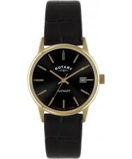 Rotary GS02877-04 Mens uurwerken wreker rose goud zwarte horloge