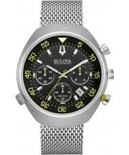 Bulova 96B236 Mens Accutron ii kreeft uhf chronograaf zilveren horloge
