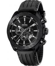 Festina F16902-1 Mens prestige zwart lederen chronograaf