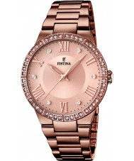 Festina F16801-1 Ladies chocolade ip vergulde horloge