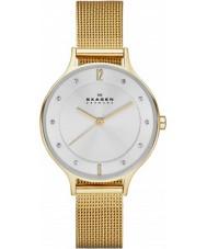 Skagen SKW2150 Ladies anita gouden mesh horloge