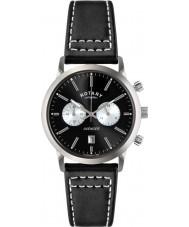 Rotary GS02730-04 Mens uurwerken sport wreker zwarte chronograaf horloge