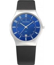 Skagen 233XXLSLN Mens klassik blauw zwart horloge