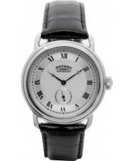 Rotary GS02424-21 Mens uurwerken sherlock holmes zilver zwart horloge