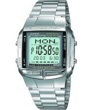 Casio DB-360N-1AEF Mens collectie zilveren stalen armband horloge met Telememo