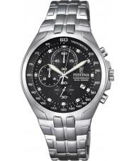 Festina F6843-4 Mens chronograaf zilveren staal chronograafhorloge