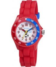 Tikkers TK0040 Jongens rood tijd leraar voetbal horloge